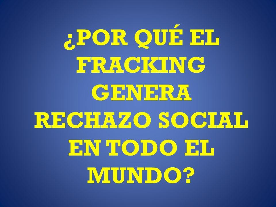 ¿POR QUÉ EL FRACKING GENERA RECHAZO SOCIAL EN TODO EL MUNDO?