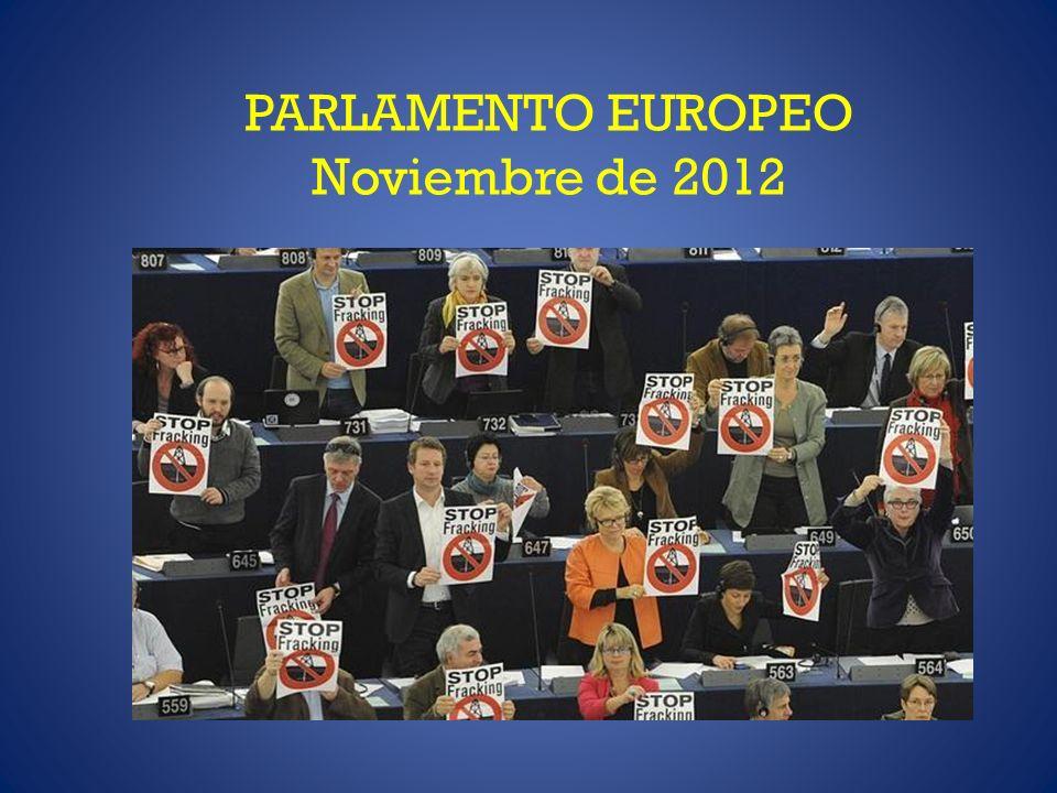PARLAMENTO EUROPEO Noviembre de 2012