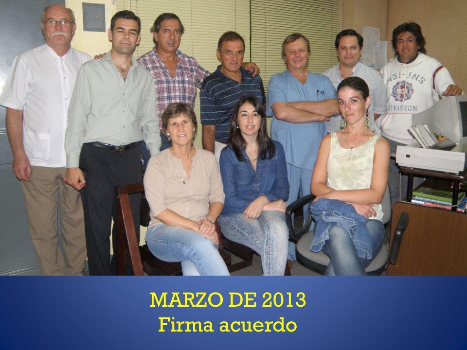 MARZO DE 2013 Firma acuerdo
