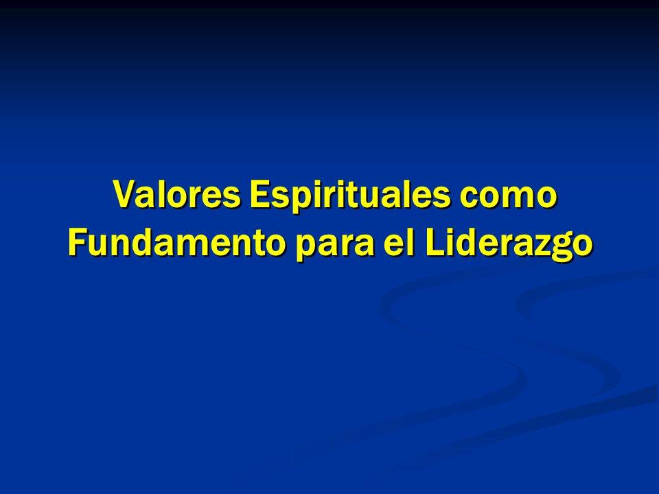 1 1 Valores Espirituales como Fundamento para el Liderazgo