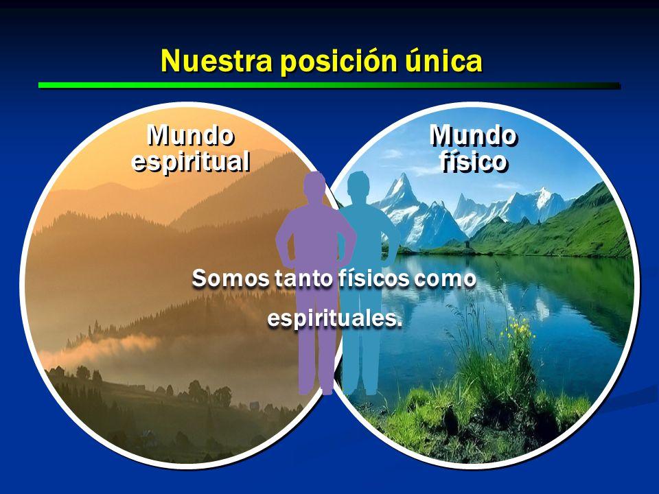 11 Mundo físico Mundo espiritual Nuestra posición única Somos tanto físicos como espirituales.