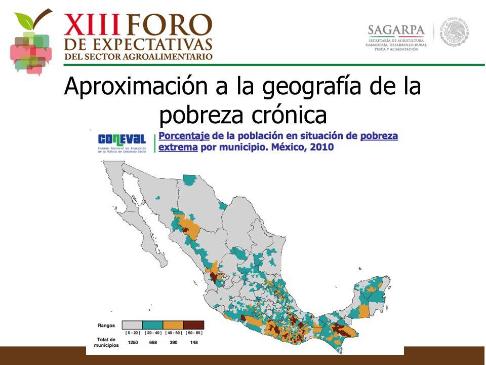 Aproximación a la geografía de la pobreza crónica
