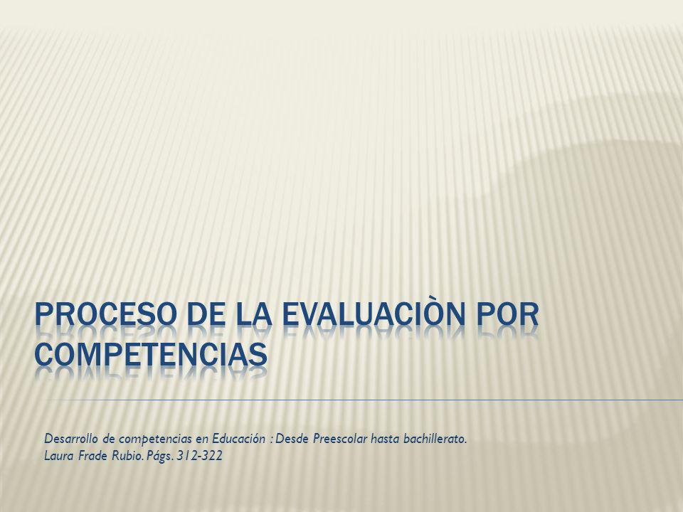 Desarrollo de competencias en Educación : Desde Preescolar hasta bachillerato. Laura Frade Rubio. Págs. 312-322