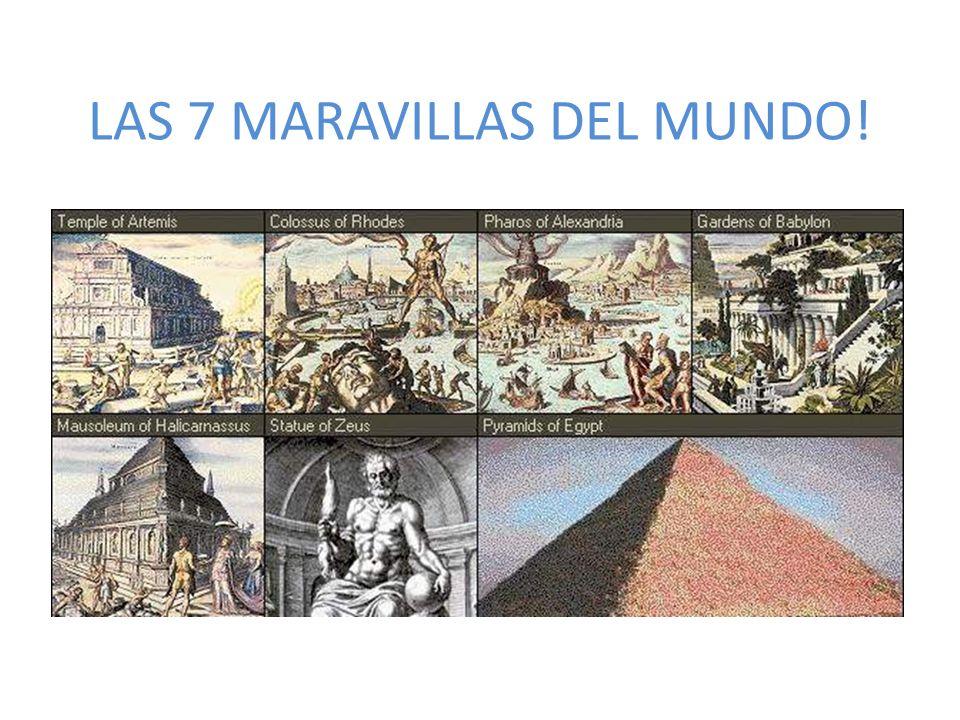 LAS 7 MARAVILLAS DEL MUNDO!