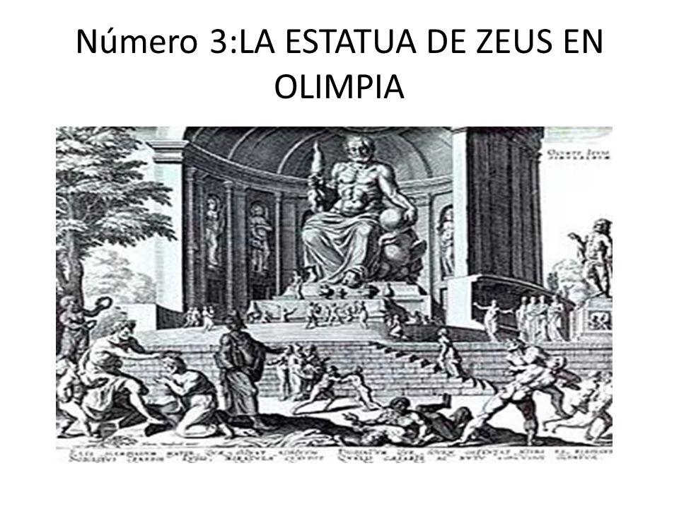 Número 3:LA ESTATUA DE ZEUS EN OLIMPIA