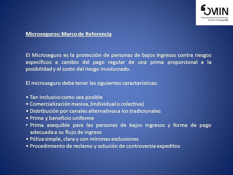 Microseguros: Marco de Referencia El Microseguro es la protección de personas de bajos ingresos contra riesgos específicos a cambio del pago regular d