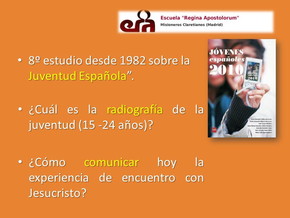 8º estudio desde 1982 sobre la Juventud Española. 8º estudio desde 1982 sobre la Juventud Española. ¿Cuál es la radiografía de la juventud (15 -24 año