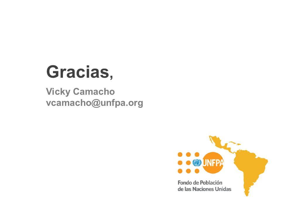 Gracias, Vicky Camacho vcamacho@unfpa.org