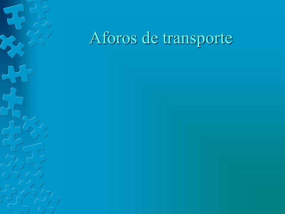 Aforos de transporte