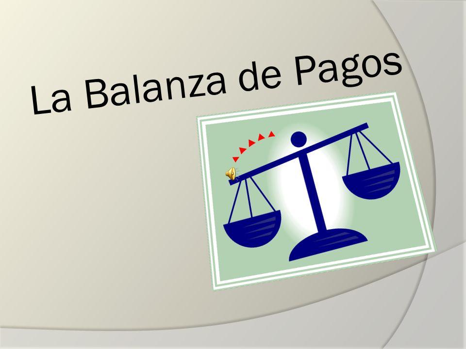 Cuenta de errores y omisiones Equilibrio de la balanza de pagos: -Ingresos > Pagos -Sin alteración a su reserva, deudas o inversiones internacionales