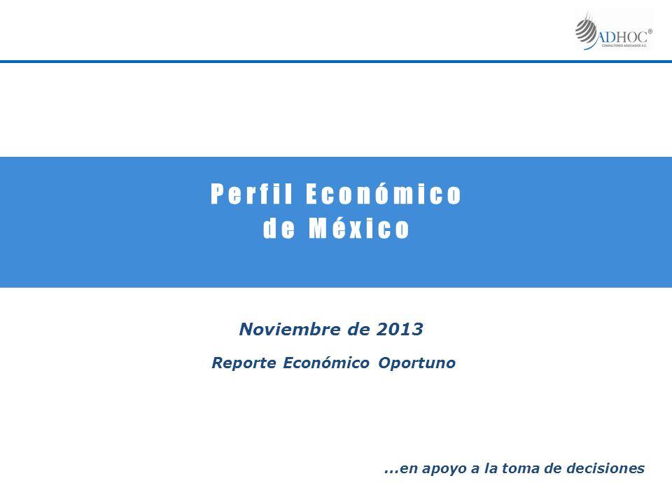 P e r f i l E c o n ó m i c o d e M é x i c o Noviembre de 2013 Reporte Económico Oportuno … en apoyo a la toma de decisiones