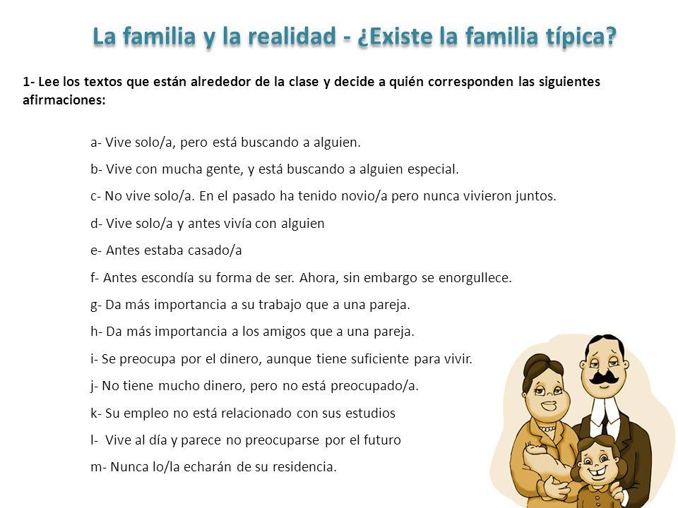La familia y la realidad - ¿Existe la familia típica.