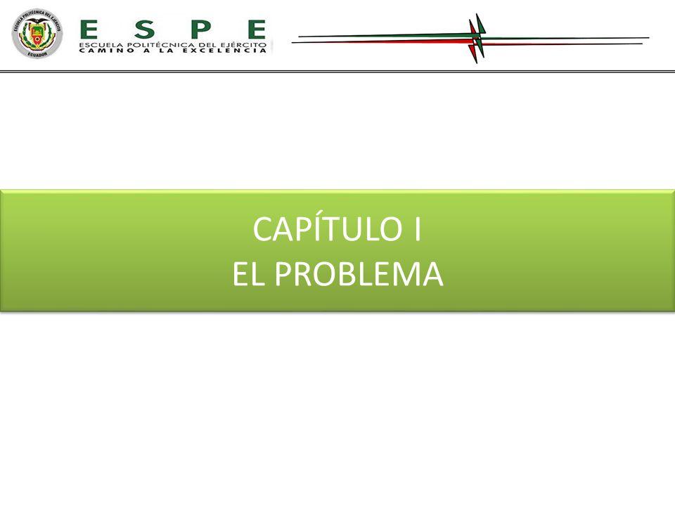CAPÍTULO I EL PROBLEMA CAPÍTULO I EL PROBLEMA