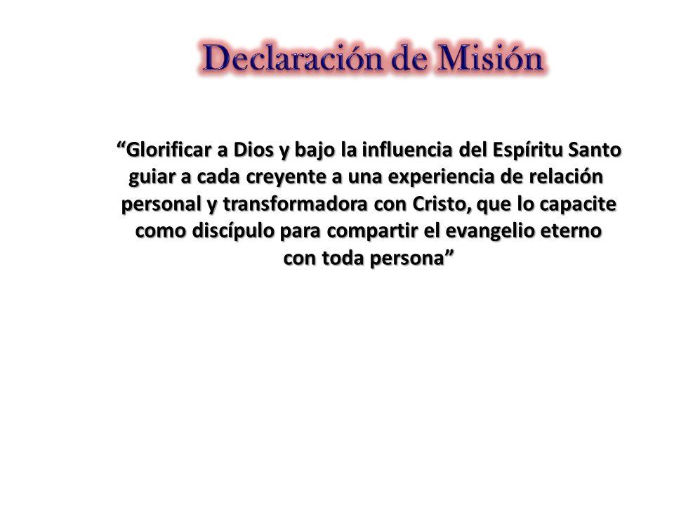Glorificar a Dios y bajo la influencia del Espíritu Santo guiar a cada creyente a una experiencia de relación personal y transformadora con Cristo, qu