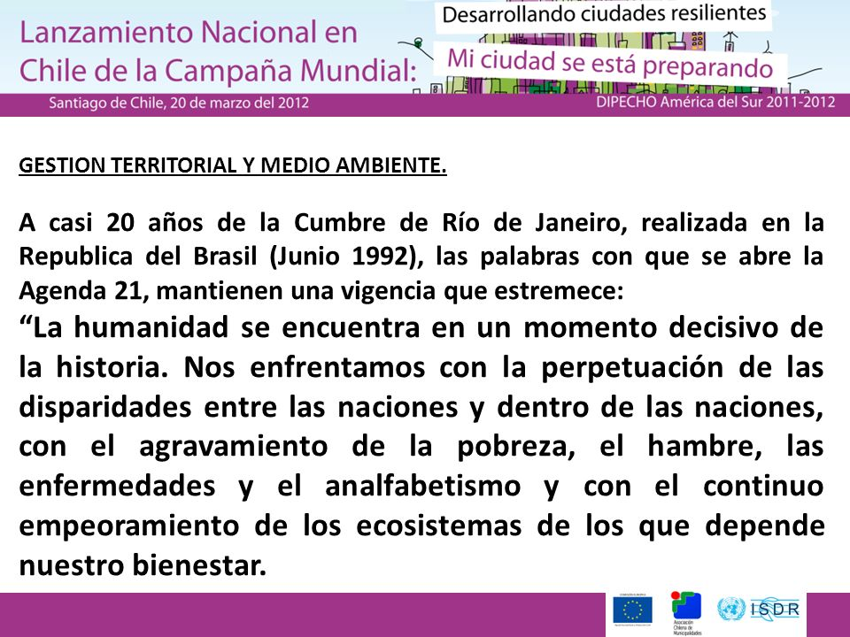 GESTION TERRITORIAL Y MEDIO AMBIENTE.