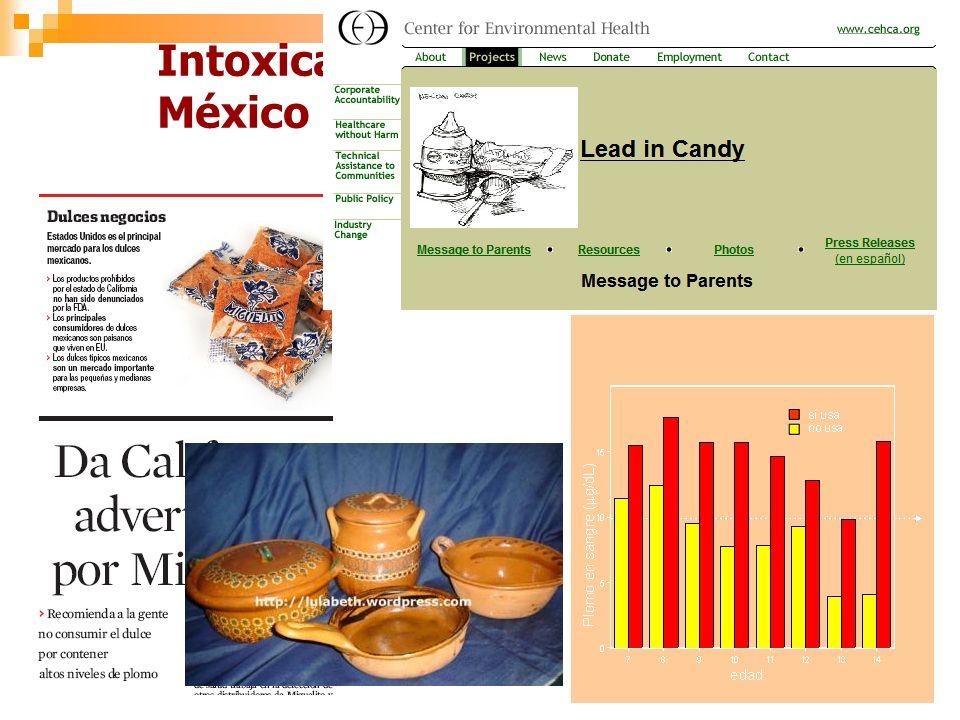 Intoxicación crónica con plomo en México