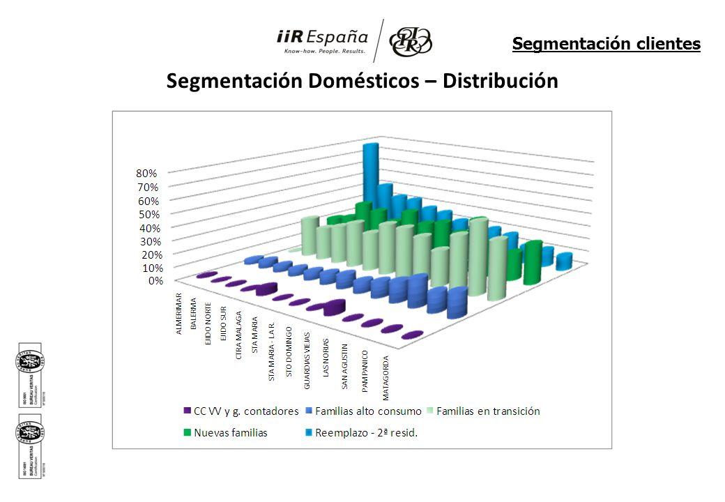 Segmentación Domésticos – Distribución Segmentación clientes