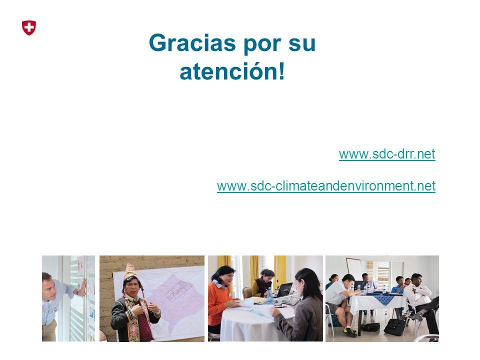 Gracias por su atención! www.sdc-drr.net www.sdc-climateandenvironment.net
