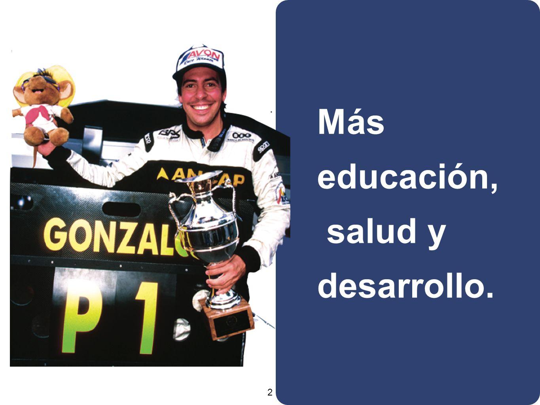 2 Más educación, salud y desarrollo.