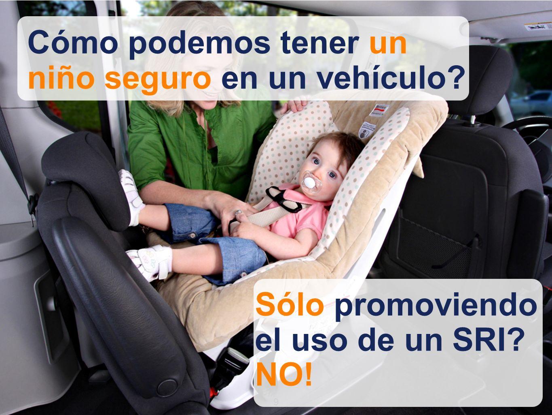 99 Cómo podemos tener un niño seguro en un vehículo Sólo promoviendo el uso de un SRI NO!