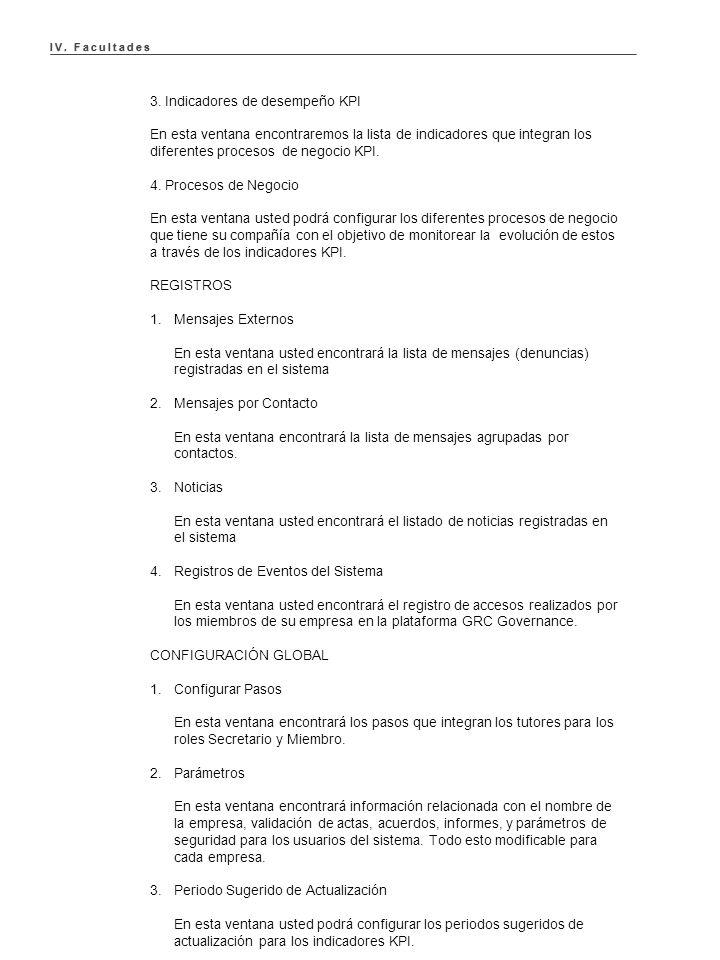 IV. Facultades IV. Facultades 3.