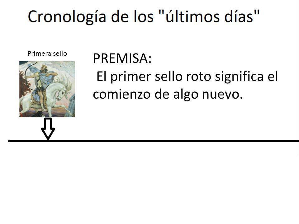 PREMISA: El primer sello roto significa el comienzo de algo nuevo. Primera sello