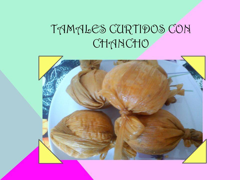 TAMALES CURTIDOS CON CHANCHO