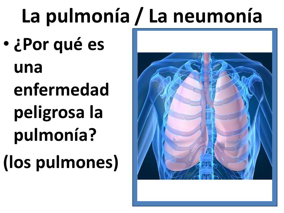 La pulmonía / La neumonía ¿Por qué es una enfermedad peligrosa la pulmonía? (los pulmones)