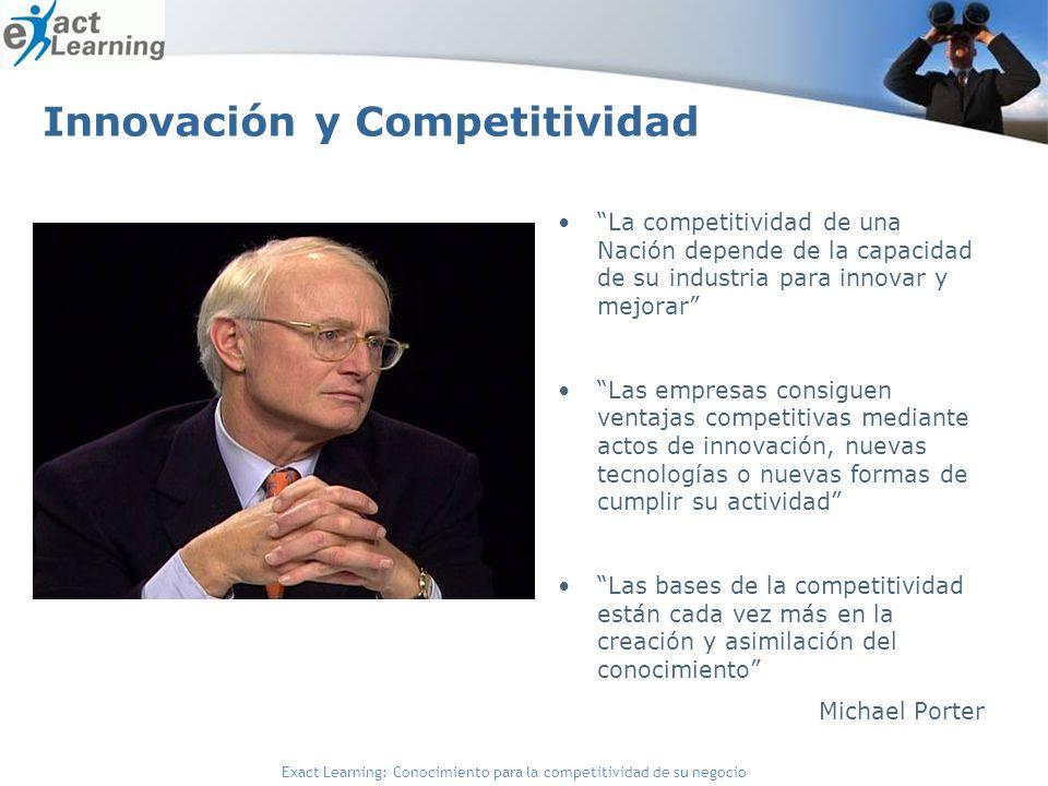 Exact Learning: Conocimiento para la competitividad de su negocio Innovación y Competitividad La competitividad de una Nación depende de la capacidad