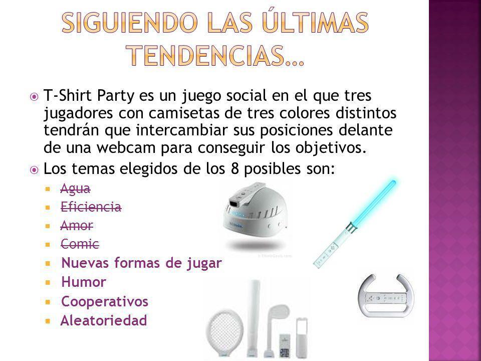 T-Shirt Party es un juego social en el que tres jugadores con camisetas de tres colores distintos tendrán que intercambiar sus posiciones delante de u