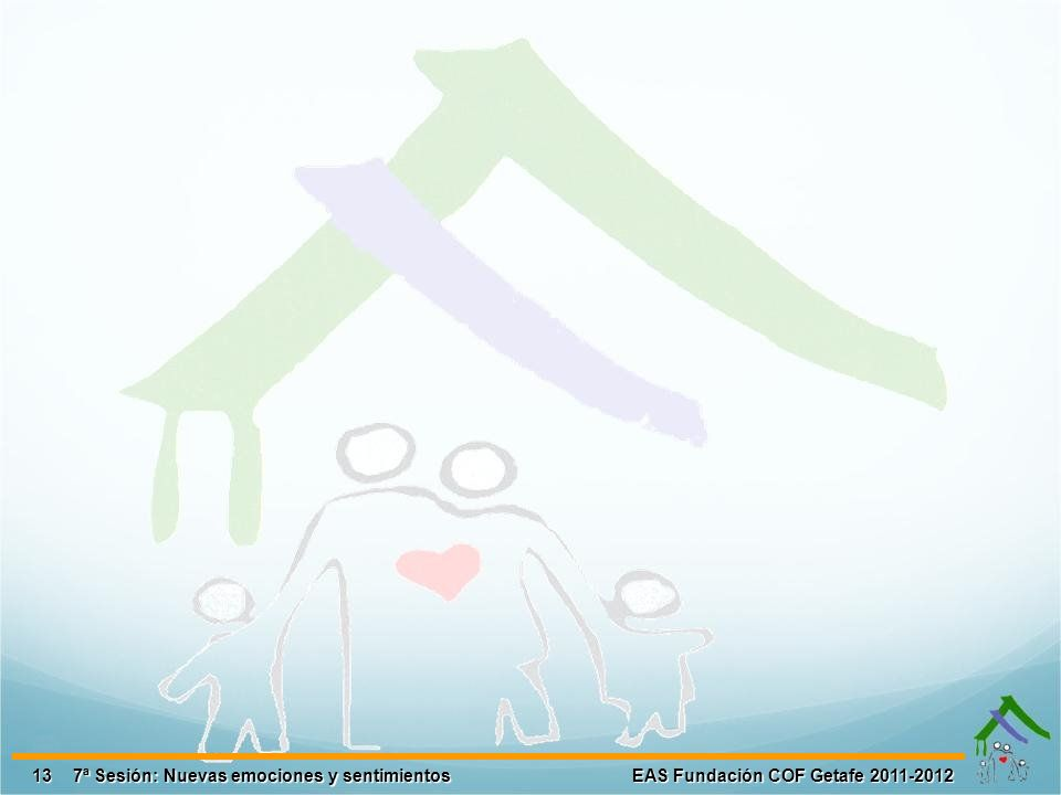 13 EAS Fundación COF Getafe 2011-2012 7ª Sesión: Nuevas emociones y sentimientos
