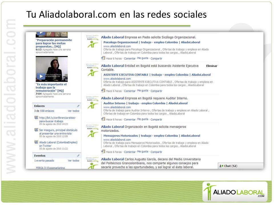 Tu Aliadolaboral.com en las redes sociales