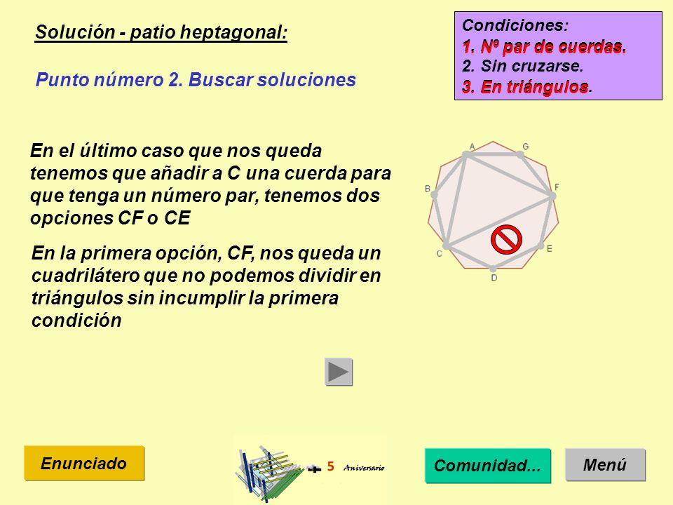 Solución - patio heptagonal: Menú Enunciado Punto número 2.