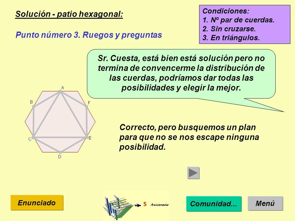 Solución - patio heptagonal : Menú Enunciado Punto número 3.