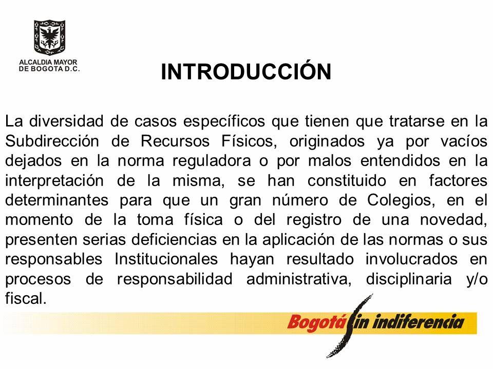MANEJO DE INVENTARIOS COLEGIOS DISTRITALES