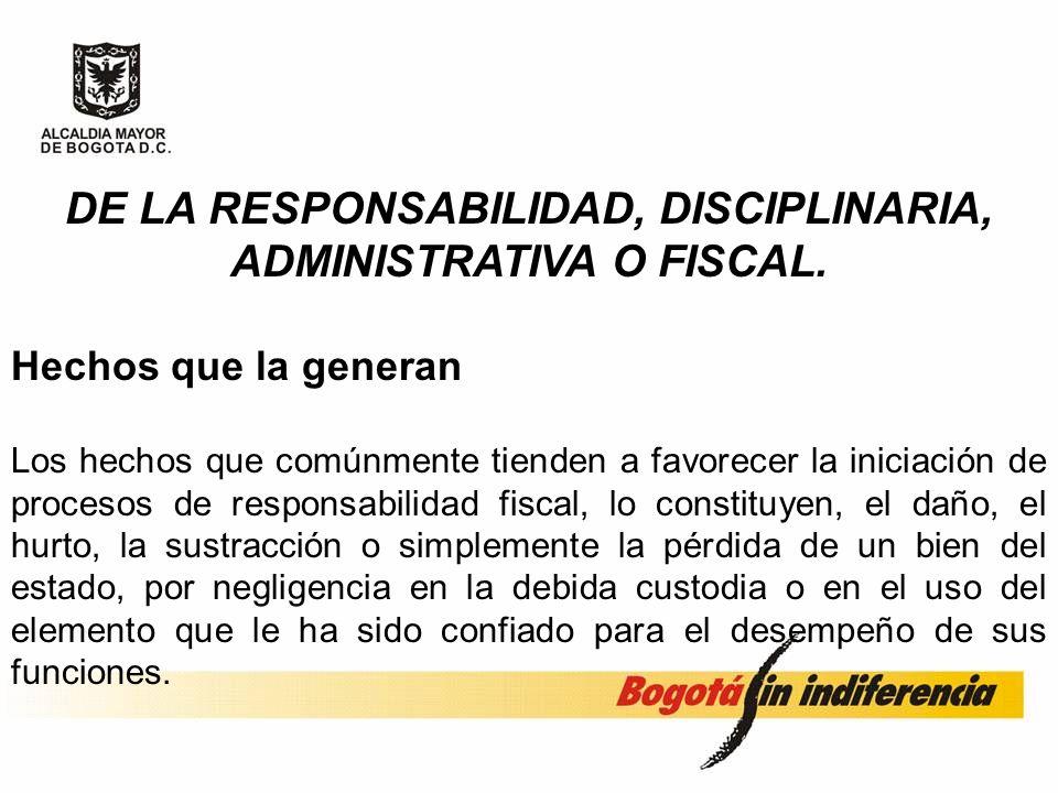 La Ley 87 de 1993 de Control Interno, define y establece responsabilidades de los administradores del patrimonio público, como son la correcta adminis