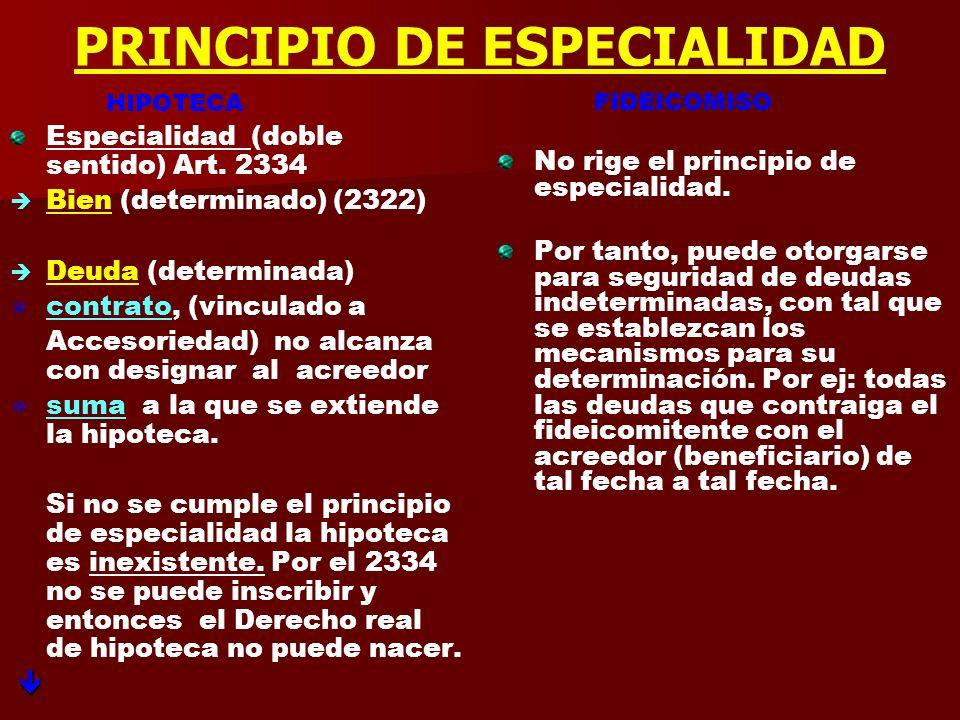 CONTRATO PRINCIPAL O ACCESORIO HIPOTECA Accesoriedad Accesorio opuesto a principal (función de garantía) Hipoteca existirá en la medida que funcionalm