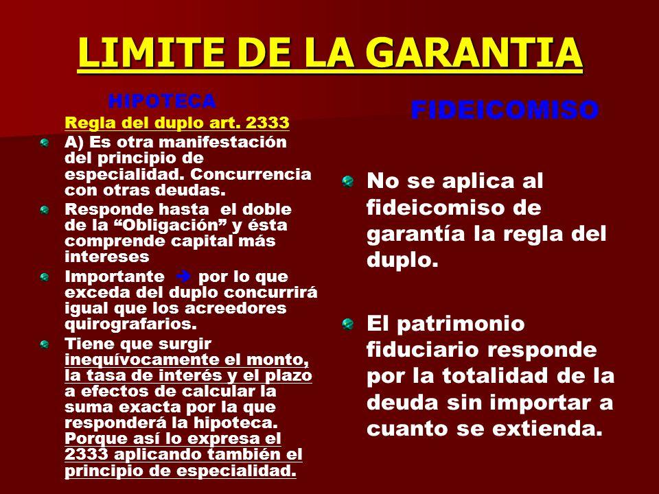 EXISTENCIA DE OTROS ACREEDORES HIPOTECA Purga de la hipoteca 2340/2 Se puede ejecutar con citación o sin citación de los acreedores hipotecarios. Pero