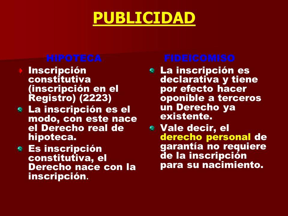 LIMITE DE LA GARANTIA HIPOTECA Regla del duplo art. 2333 A) Es otra manifestación del principio de especialidad. Concurrencia con otras deudas. Respon