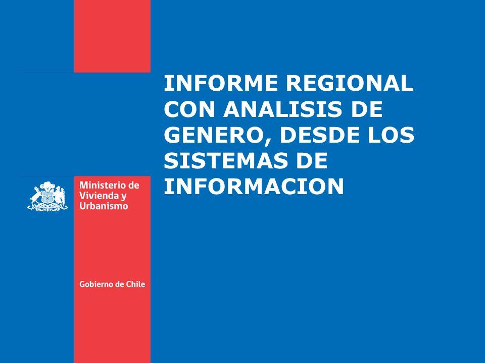 INFORME REGIONAL CON ANALISIS DE GENERO, DESDE LOS SISTEMAS DE INFORMACION