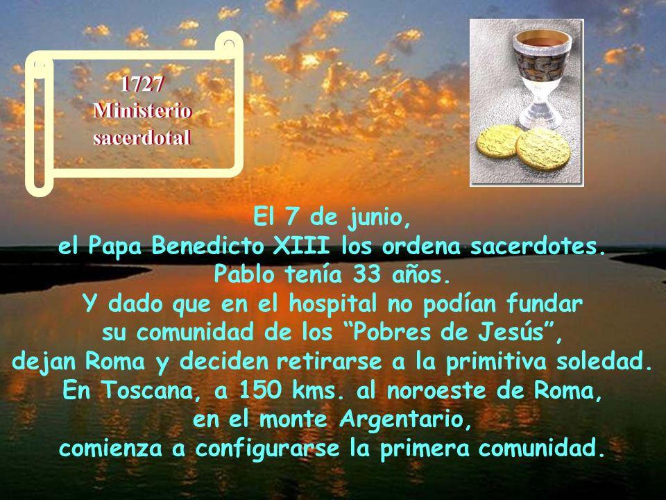 El Cardenal Corradini les da la oportunidad de permanecer en Roma en el Hospital de San Galicano. Aquí probaron más de cerca la intensidad del dolor h