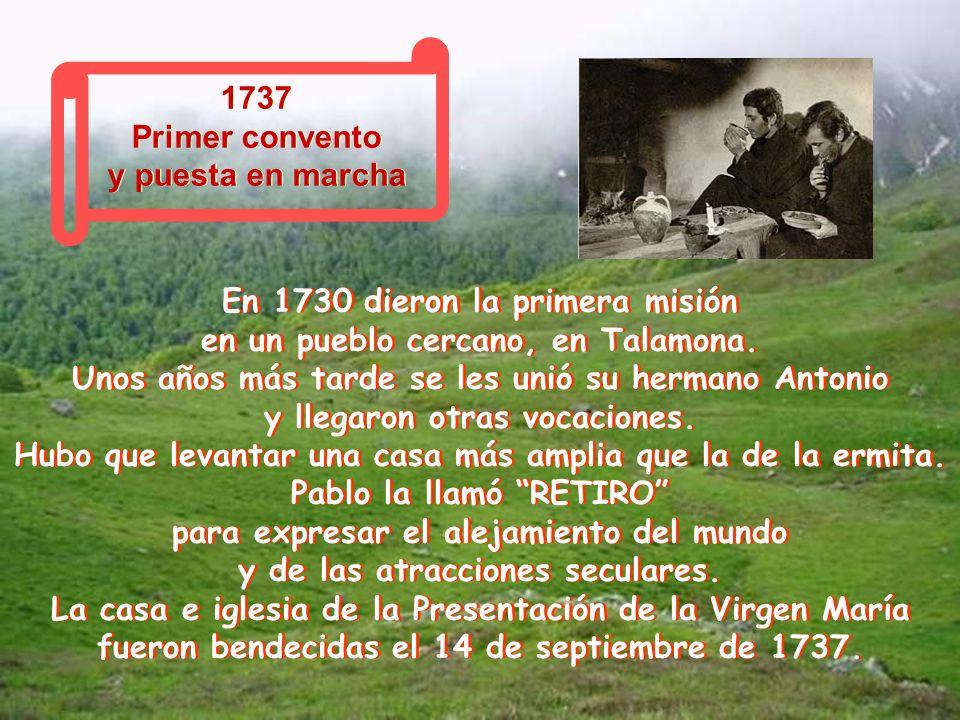 1727 Ministerio sacerdotal 1727 Ministerio sacerdotal El 7 de junio, el Papa Benedicto XIII los ordena sacerdotes. Pablo tenía 33 años. Y dado que en