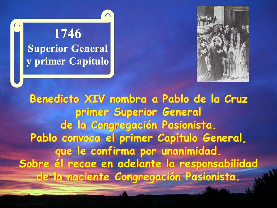 El nombre de la nueva Familia: Clérigos Regulares Descalzos de la Santísima Cruz y Pasión de Nuestro Señor Jesucristo, título que expresaba claramente