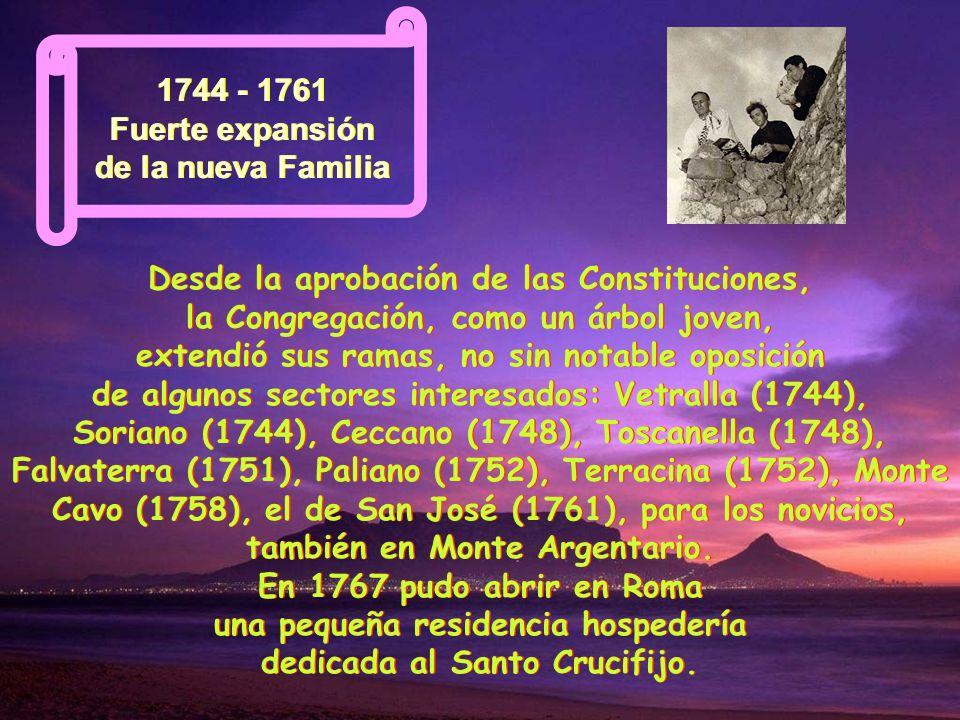 1746 Superior General y primer Capítulo 1746 Superior General y primer Capítulo 1746 Superior General y primer Capítulo Benedicto XIV nombra a Pablo d