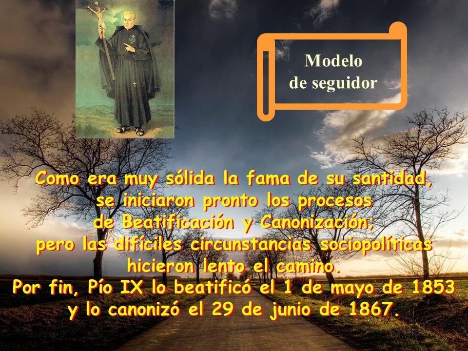 1775 Culminación de una vida 1775 Culminación de una vida El 18 de octubre, fallece en Roma, en San Juan y Pablo, tras haber fundado y dejado en march