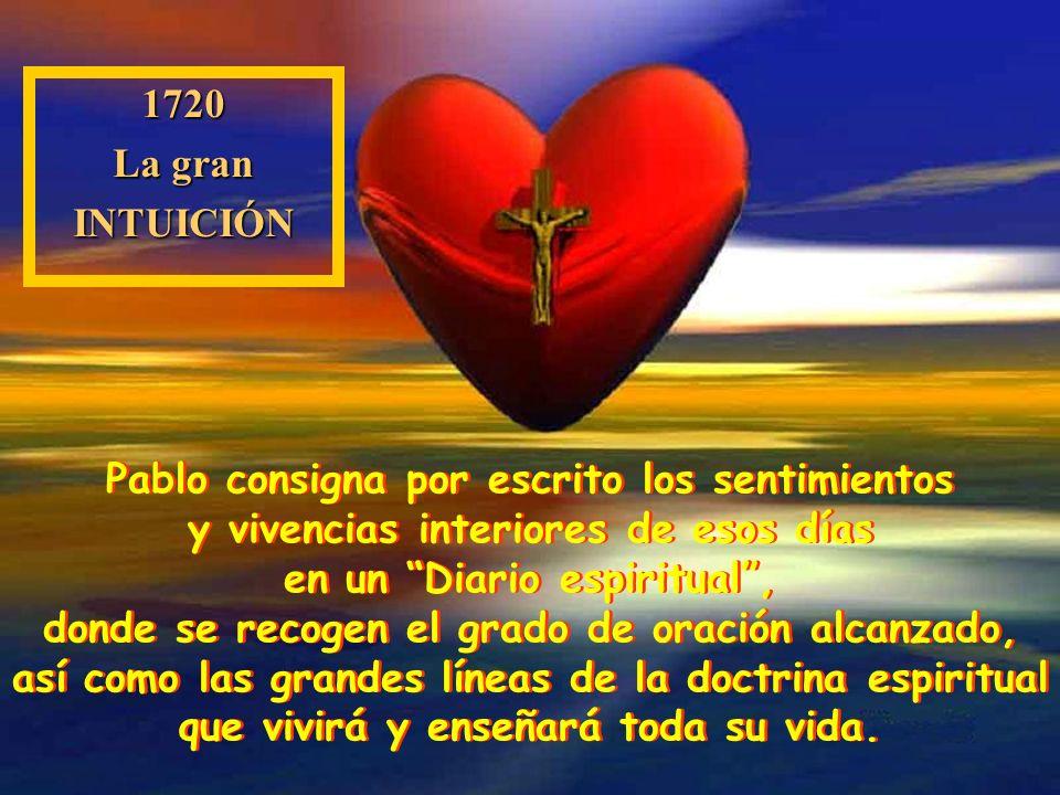 Las seis semanas siguientes (del 23 de noviembre de 1720 al 1 de enero de 1721), transcurre en el cuarto trasero de la sacristía de San Carlos, a las