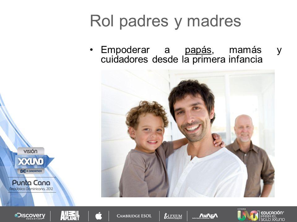 Empoderar a papás, mamás y cuidadores desde la primera infancia Rol padres y madres