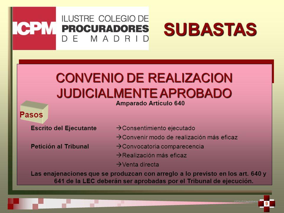 SUBASTAS 10 El catálogo de servicios que ofrece el Ilustre Colegio de Procuradores de Madrid, en colaboración Bnp Paribas y Las Naciones 2020 S.L.