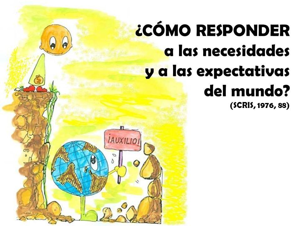 ¿CÓMO RESPONDER a las necesidades y a las expectativas del mundo? (SCRIS, 1976, 88)