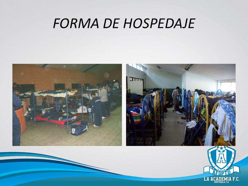 FORMA DE HOSPEDAJE